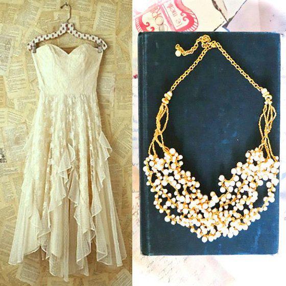 Pearl Necklace Vintage Wedding Necklace by SukranKirtisJewelry