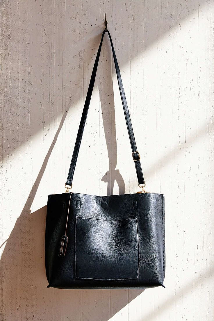 Reversible Vegan Leather Oversized Tote Bag - Urban Outfitters