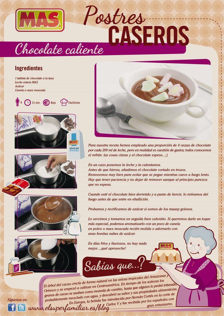 #Receta de #Chocolate caliente con un toque especial, ¿te animas a prepararlo? #Infografia #InfoRecetas #Recetas #recipes #infographics