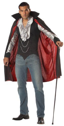 California Costumes Men's Very Cool Vampire Costume,Black/Silver,Medium Real Reviews