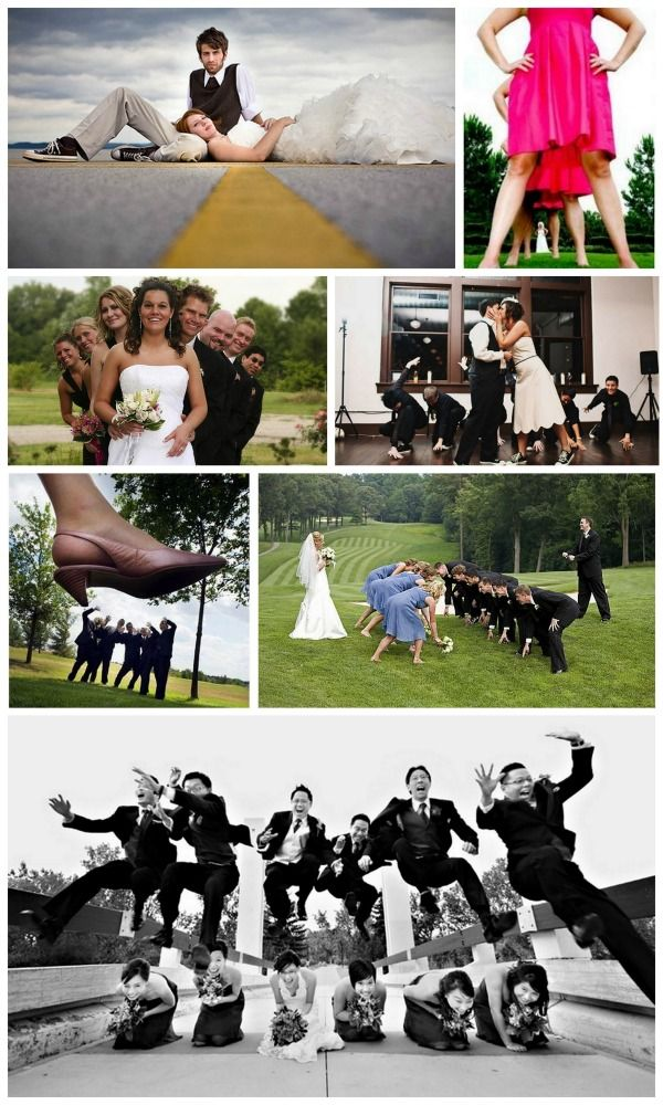 Unique wedding photos....love the football one ;)
