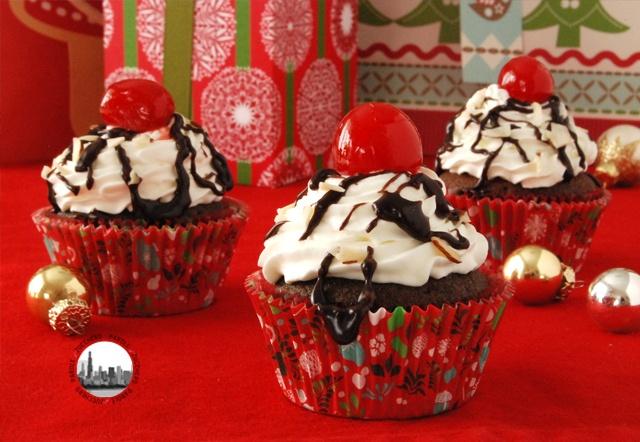 Cupcakes al cacao con panna