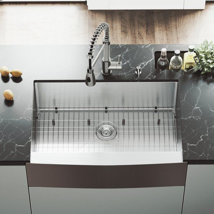 Bedford 33 L X 22 W Farmhouse Kitchen Sink With Faucet Apron Sink Kitchen