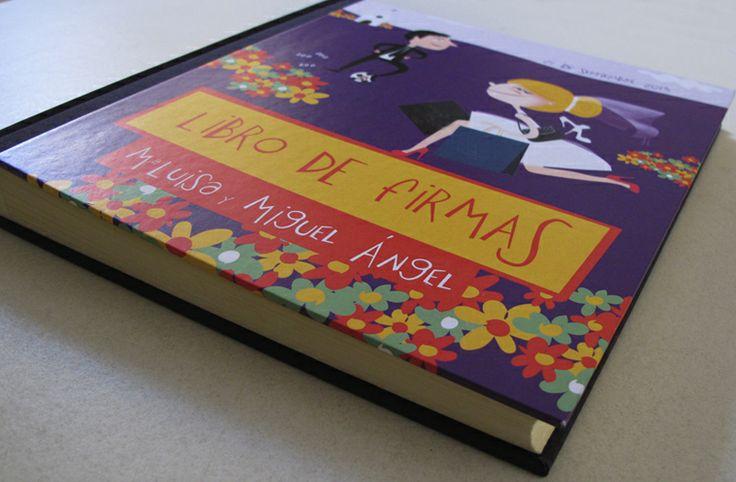 Nuestros libros de firmas personalizados.  http://www.1001invitaciones.com/complementos/pareja-tardona/