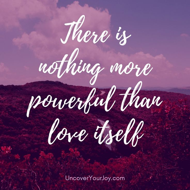 There is nothing more powerful than love itself ...