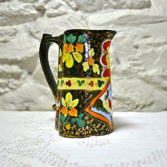 Ceramic Milk Jug Creamer Or Small Vase Colorful Porcelain Decorative Jug For Home Decor Gift Vintage Home Accessories Online Vintage Shop Vintage House