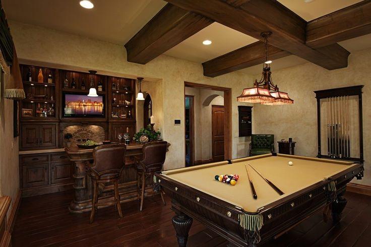 Game room bar ideas family room mediterranean with wet bar home bar billiard room