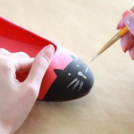 DIY Cat Toe Flats - craftgawker