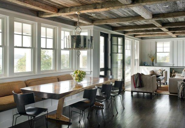 LDA architects house - colonial farmhouse/modern rustic inside. lotsa windows.