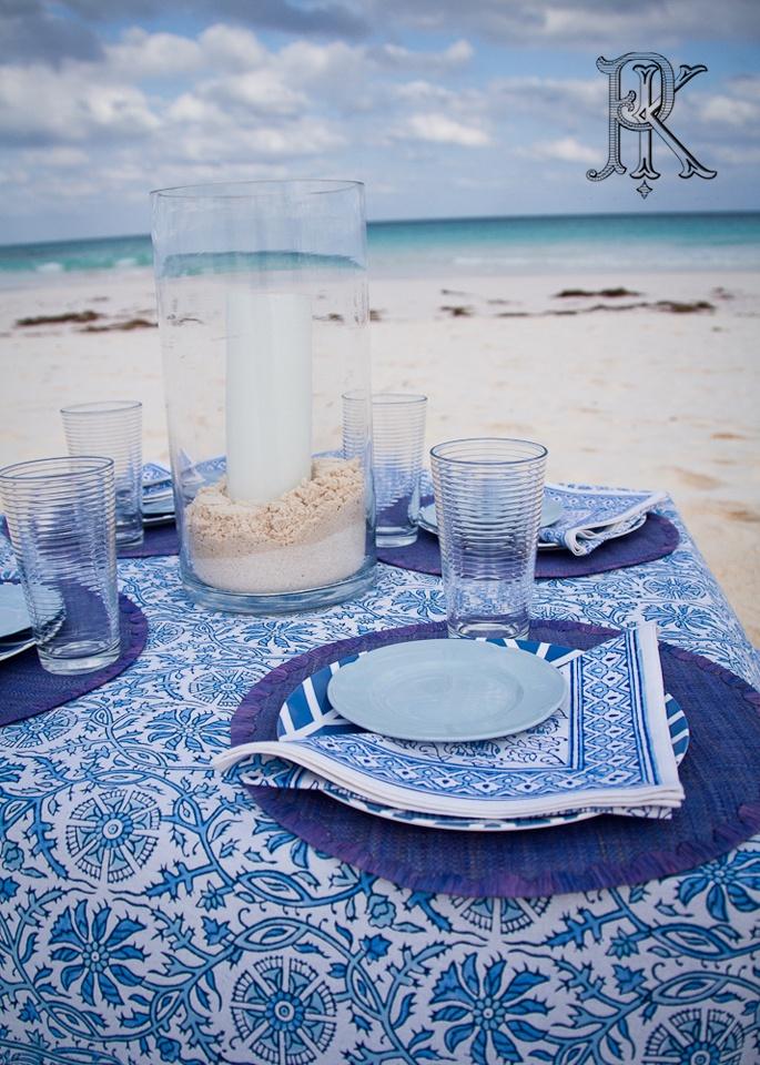Table Linens, Beach, Dinner Party, Blue