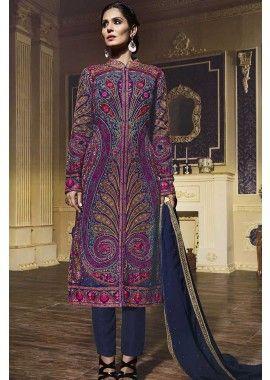 plusieurs georgette costume Anarkali, - 157,00 €, #Salwarkameezfrance #Tenuebollywood #Robeindienne #Shopkund