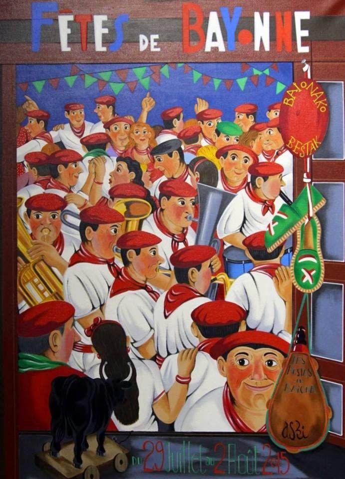Affiche fêtes de bayonne 2015
