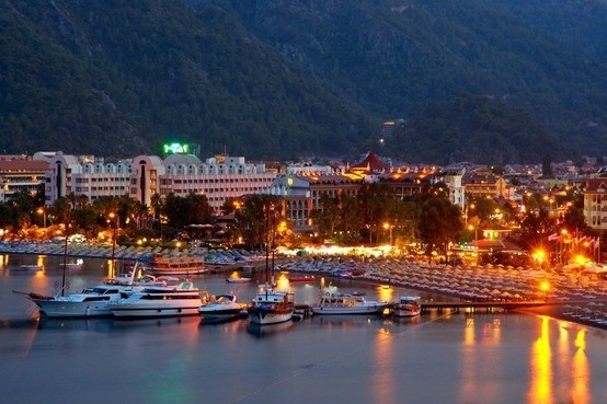 Colorful lights of Icmeler Marmaris