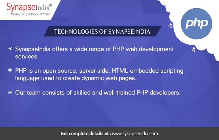 SynapseIndia Technologies offers a wide range of PHP web development services. Our team consists of skilled and well trained PHP developers.  Take a look at: https://synapseindiatechnologies.wordpress.com/2017/05/23/synapseindia-technologies-create-dynamic-web-pages-with-our-php-development-services/