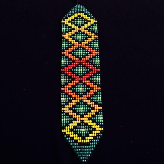 Nativos americanos Beaded Pulsera / pulseras del por TRIBALMUNAYA