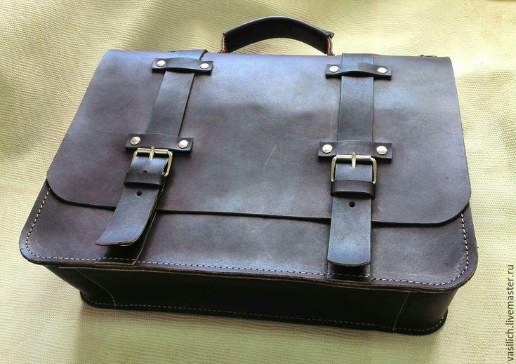 Купить Портфель (изготовлен на заказ) - коричневый, портфель из кожи, портфель мужской, стильный портфель