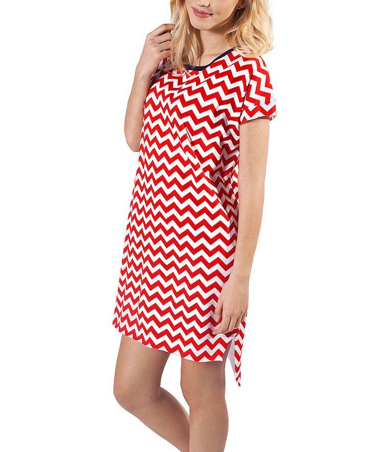 Red Chevron Bessi Nightgown