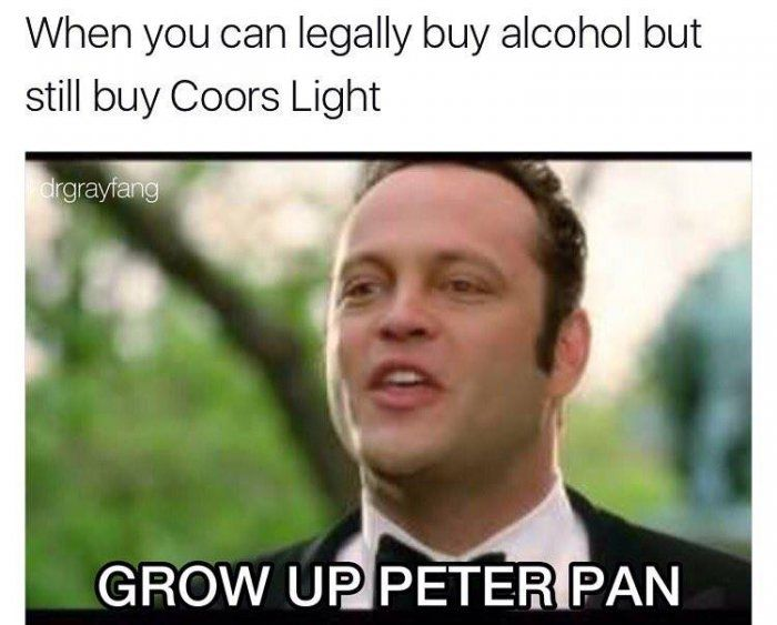 When you can legally buy alcohol meme