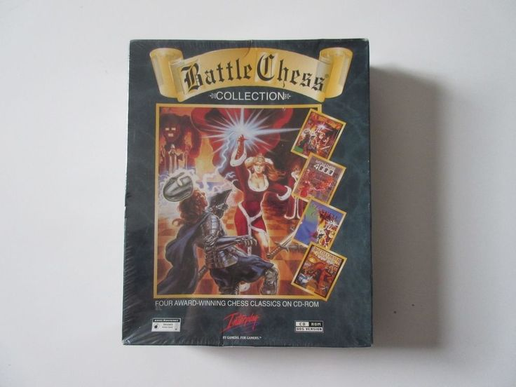 NIP NEW Sealed Battle Chess Collection Interplay 1997 CD-ROM DOS Computer Game