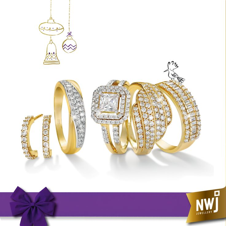 Who could resist these dazzling 9ct Gold numbers?
