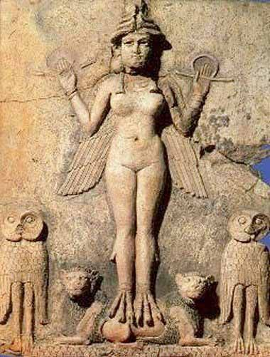 The goddess Inanna (Innin, or Innini) was the patron and special god/goddess of the ancient Sumerian city of Erech (Uruk), the City of Gilgamesh. As Queen of heaven, she was associated with the Evening Star (the planet Venus), and sometimes with the Moon. She may also have been associated the brightest stars in the heavens, as she is sometimes symbolized by an eight-pointed star, a seven-pointed star, or a four pointed star. In the earliest traditions, Inanna was the daughter of An, the Sky…