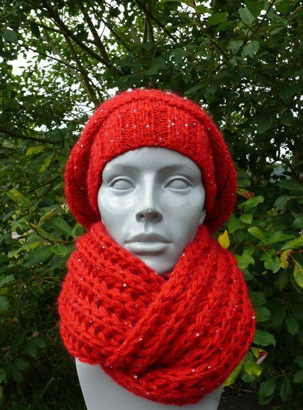 1000 id es sur le th me snood tricot sur pinterest tuto - Quel point pour tricoter une echarpe ...