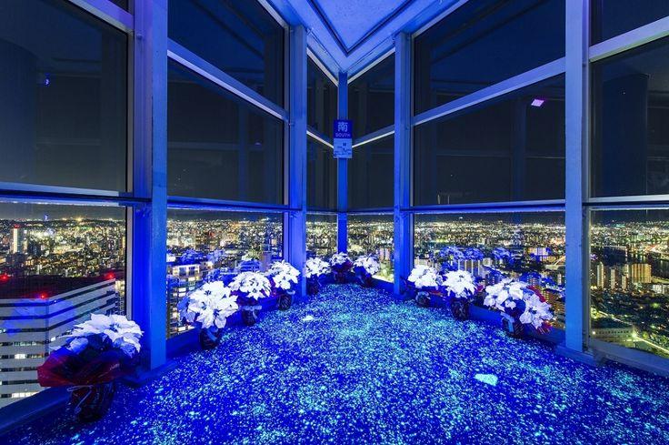 夜景×イルミでブルーに染まる幻想空間、クリスマスの福岡がロマンティックすぎる/画像提供:福岡タワー