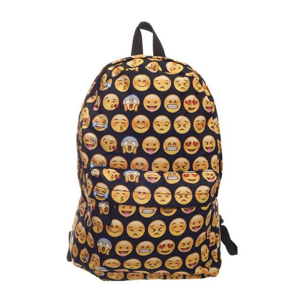 NEW Emoji  BackPacks ❤ liked on Polyvore featuring bags, backpacks, rucksack bag, day pack backpack, beige bag, flap backpack and backpacks bags