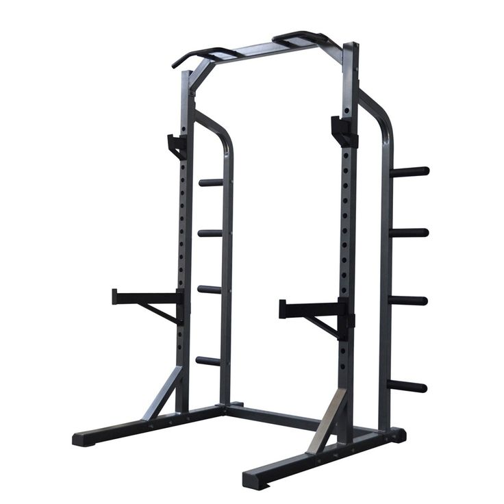 BodyMax Heavy Half Rack is a superb rack that can be used in any home or garage gym. Great for Squatting, Pressing and Chinning