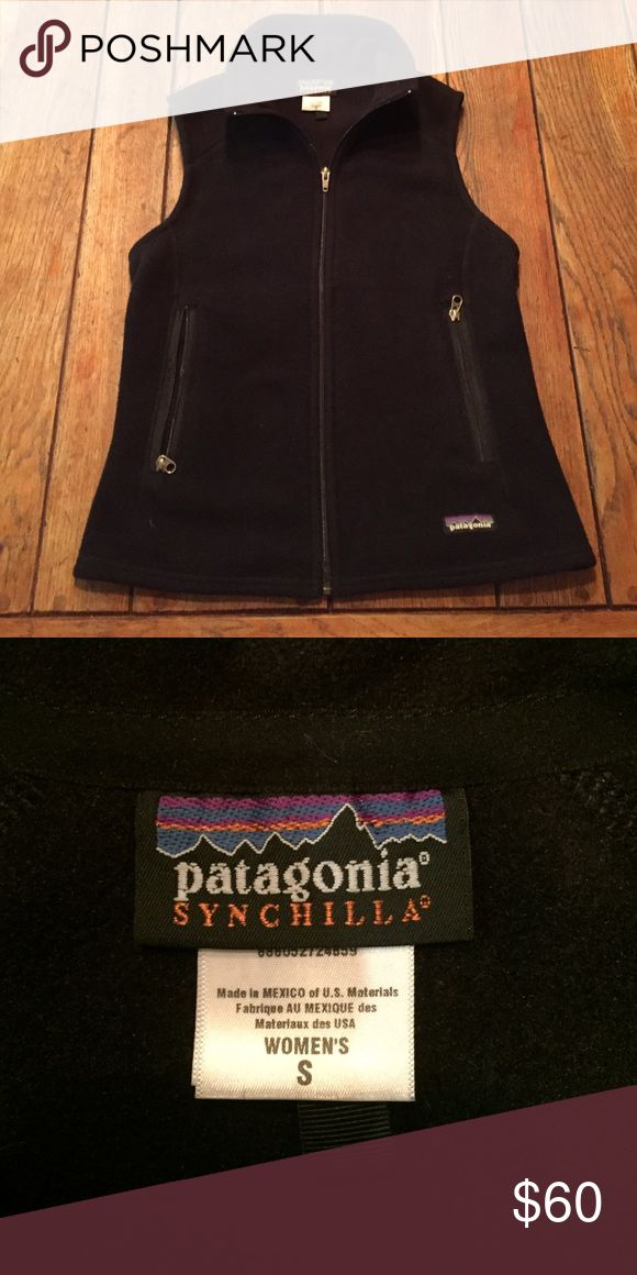 Women's Patagonia Fleece Vest Women's Patagonia Synchilla Black Fleece Vest.  Size:  Small Patagonia Jackets & Coats Vests