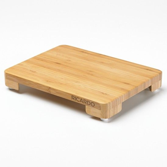 The Ricardo Cutting Board Is Made Of Bamboo Wood, X Cm X 22 Cm). Chope And  Clear The Work Surface Easily By Sliding A Plate Under The Board.