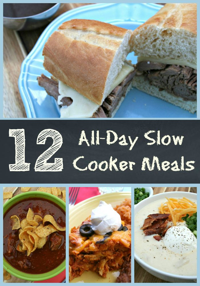 12 All-Day Slow Cooker Meals, 8 hours or more slow cooker recipes! http://themagicalslowcooker.com/2013/05/12/12-all-day-slow-cooker-meals/