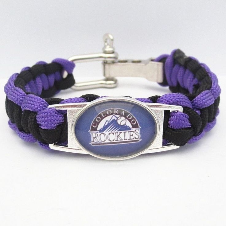 MLB Colorado Rockies Baseball Team Survival Paracord Bracelet Major League #baseball