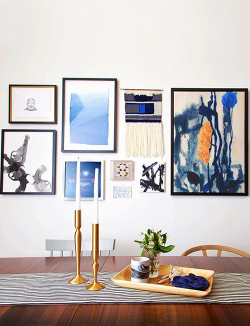 Try incorporating different types of art \u2014 from prints to paintings
