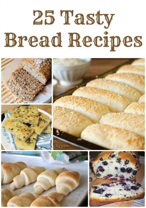 Easy Homemade Bread Recipes! Love these Easy Recipes for Christmas and the Holidays!