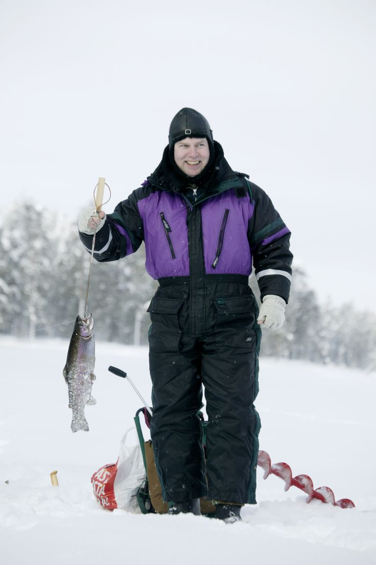 Ice Fishing, Taivalkoski, Lapland, Finland www.visittaivalkoski.fi