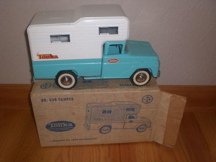 Vintage Tonka Camper Truck #530 Pressed Steel Toy, Mound, MN. W/ Box