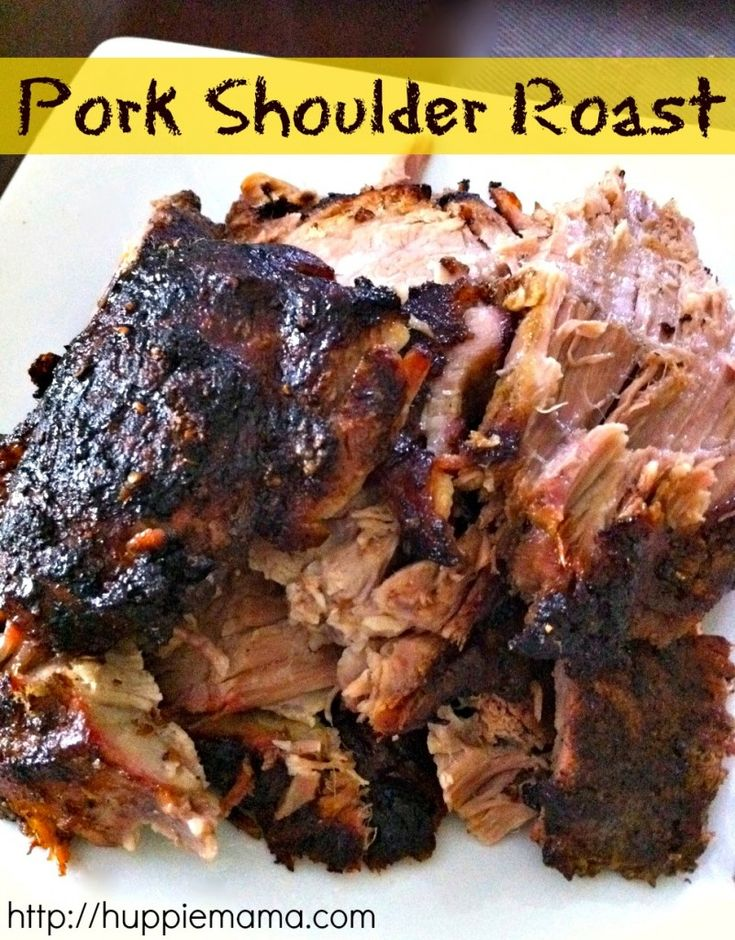 Pork Shoulder Roast: I browned this in olive oil in a pan then placed it in the Crock-Pot, poured the pureed mixed ingredients over it and cooked on low for the day.