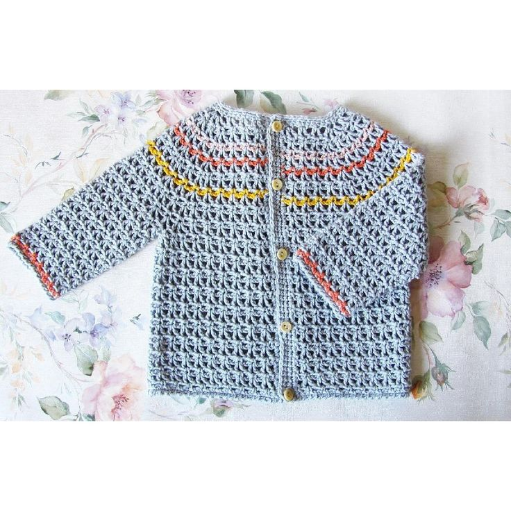 The stitch used in this cute baby cardi forms a soft and lightweight fabric that is really comfortable to wear.The pattern has step-by-step instructions with a chart for the yoke, so you can make a perfect cardi for your baby.Use any sport-weight - a suggested yarn is shown below.