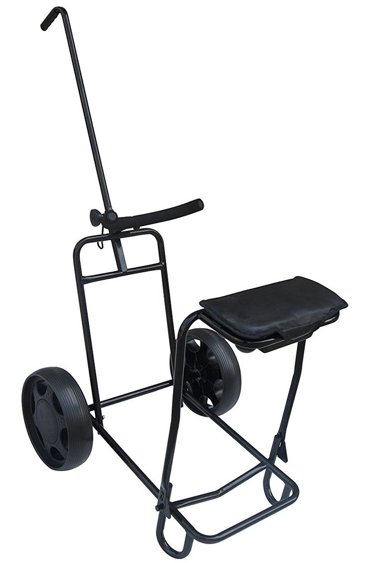 Offering a completely unique design this tilt 2 wheel golf pull cart with seat by Founders Club offers exceptional maneuverabilty even on the toughest of golf courses!