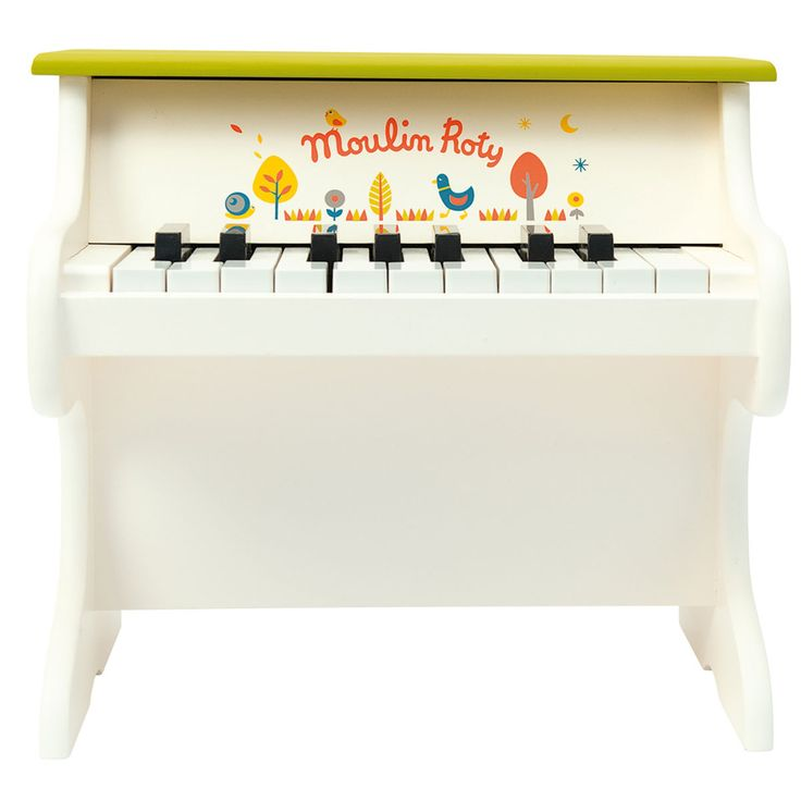 Moulin roty les cousins piano les cousins piano wooden piano toy helps encourage fine motor skills and imaginative play for ages 3 years and up