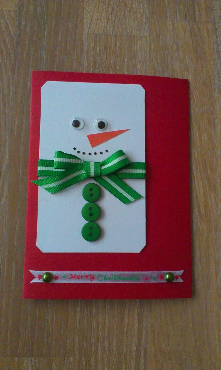 kerstkaart ook leuk voor kinderen om te maken.