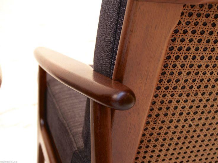Pair OF Parker Blackwood Rattan Back Lounge Chairs Sydney 1961 Vintage Retro | eBay