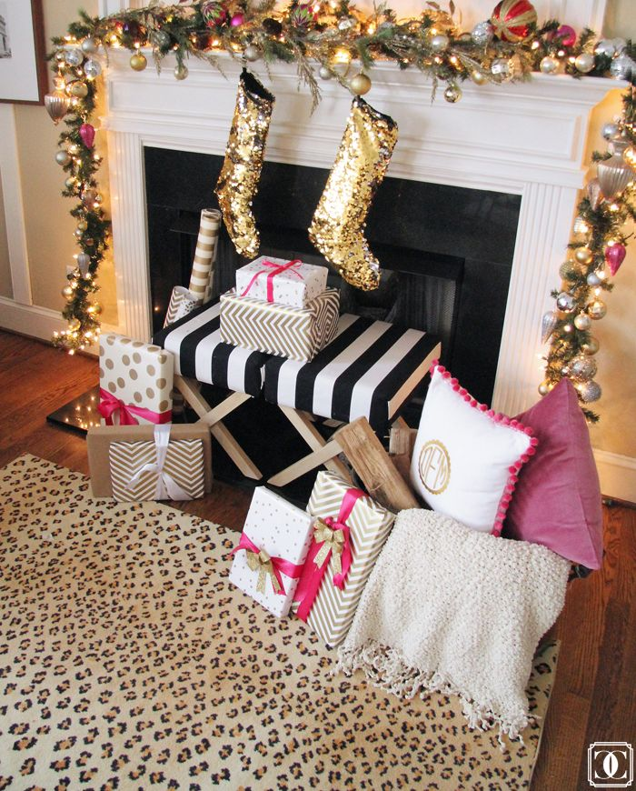 Christmas decorating with hot pink