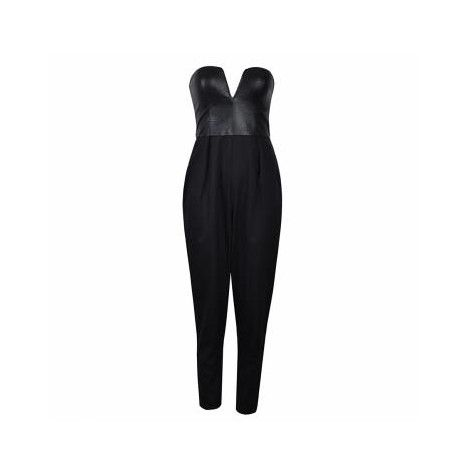 Ally Fashion PU Top Jumpsuit.