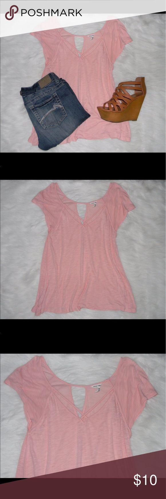 "Pink Strappy Top (462) Size medium, very good condition, 80% rayon 20% cotton, 17"" bust, 26"" long -Packages are shipped from California -Sorry but NO TRADES -Items in cover are meant for decorative purposes -Everything is cross-posted -Sorry No Holds -Comes from smoke free, dog friendly homes -Bundle for discounts -Reasonable offers are accepted via the offer button -All measurements are from items laying flat Bethany Mota Tops Tees - Short Sleeve"