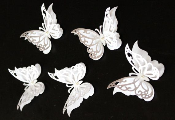 3D Wall Butterflies : Butterfly wall art White by MyDreamDecors