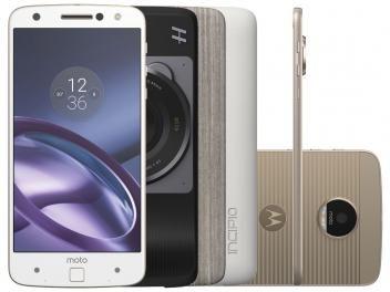 Confira no #MagazineBrasilcompleto:  Smartphone Motorola Moto Z Power & Hasselblad True - Zoom Edition 64GB Branco e Dourado DualChip 4G