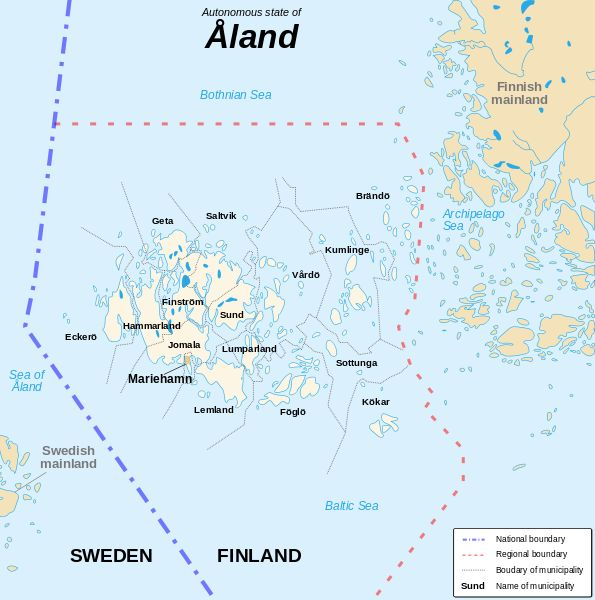 Åland Islands map - Bing Images