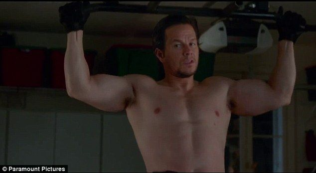 Beefy: Mark Wahlberg goes shirtless in the new trailer for his forthcoming movie Daddy's H...